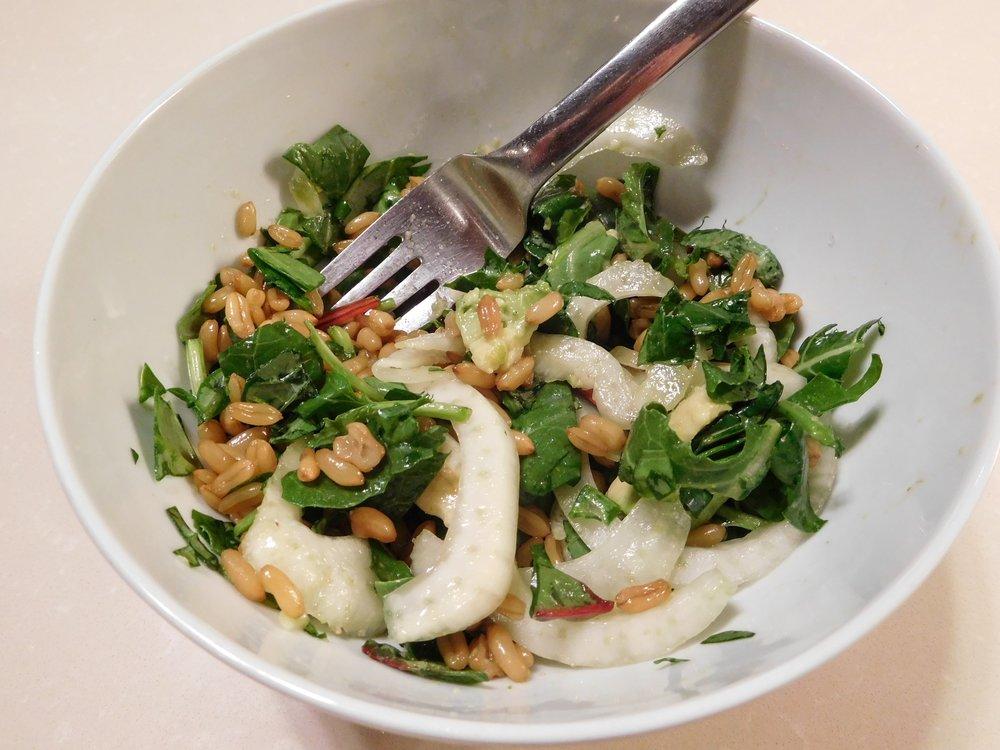 Spinach + Grains + Lemon + Fennel