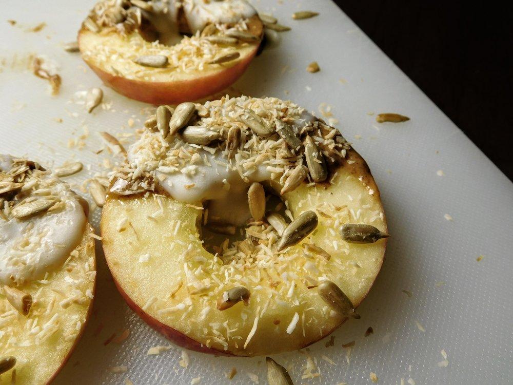 Coconut Apple Rings