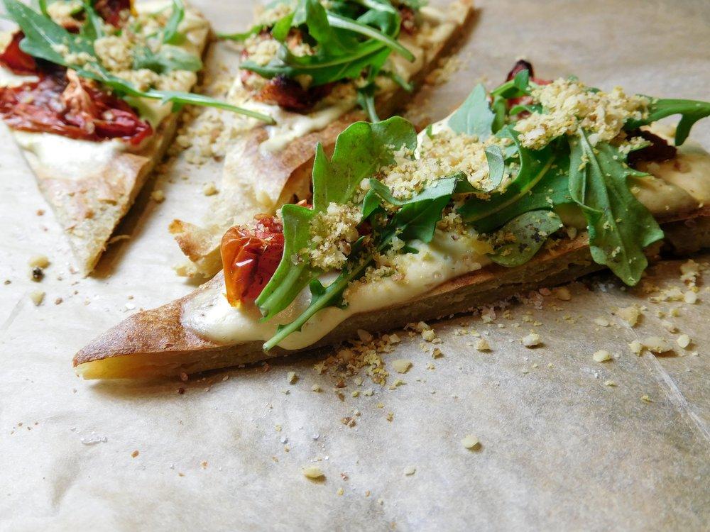 Quinoa Flat Bread Pizza (gluten free)