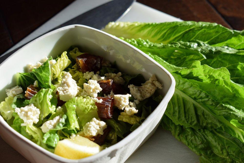 Organic Greens + Dates + Almond Feta