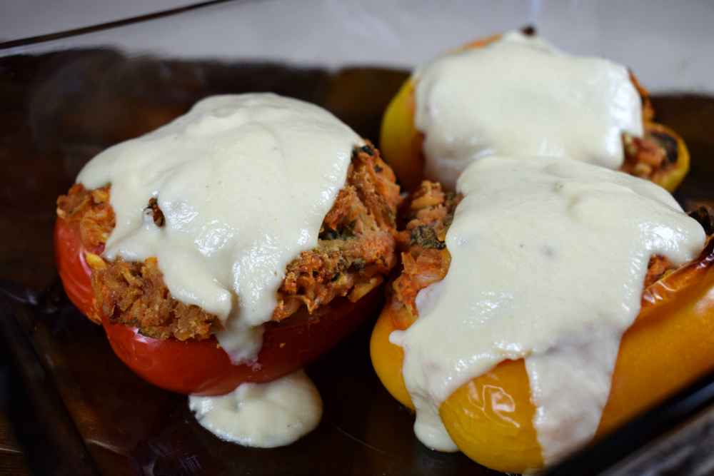 July 7 Stuffed Peppers with Alfredo Sauce.JPG