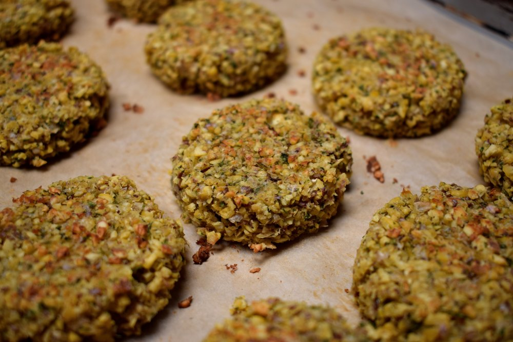 falafel patties on parchment.JPG