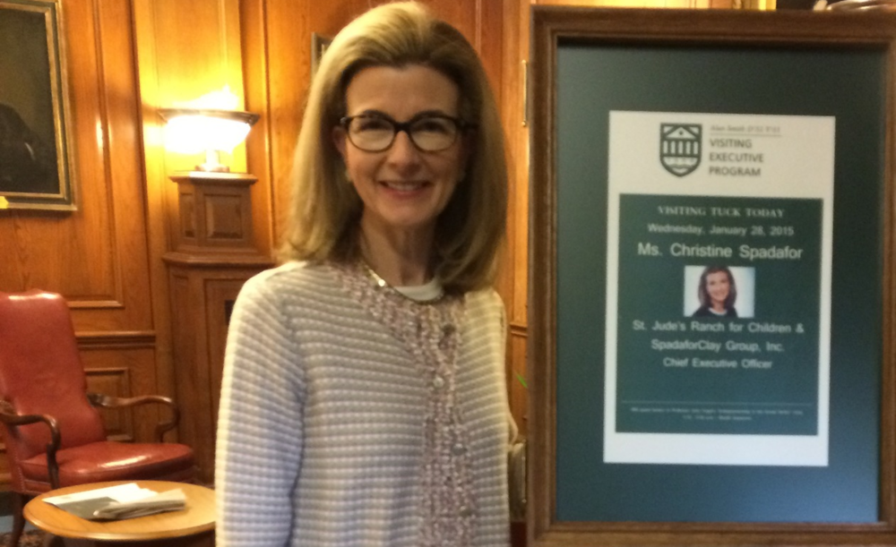 At the  Tuck School of Business at Dartmouth ,  Christine Spadafor  is a Visiting Lecturer in the  Alan Smith Visiting Executive Program.
