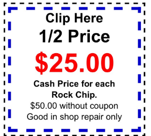 rock chip repair coupon