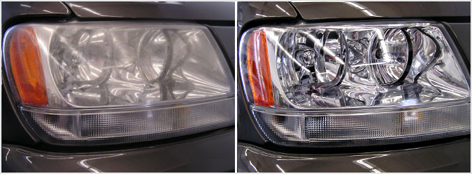 head light cleaning