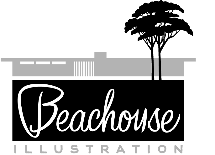 Beachouse Illustration