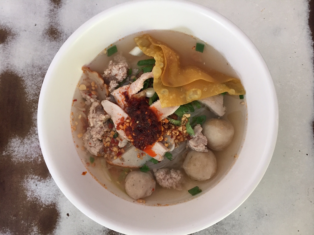 Tom Yam Soup - there's many versions but this one is my favorite. It's made with a pork bone stock and clear broth.