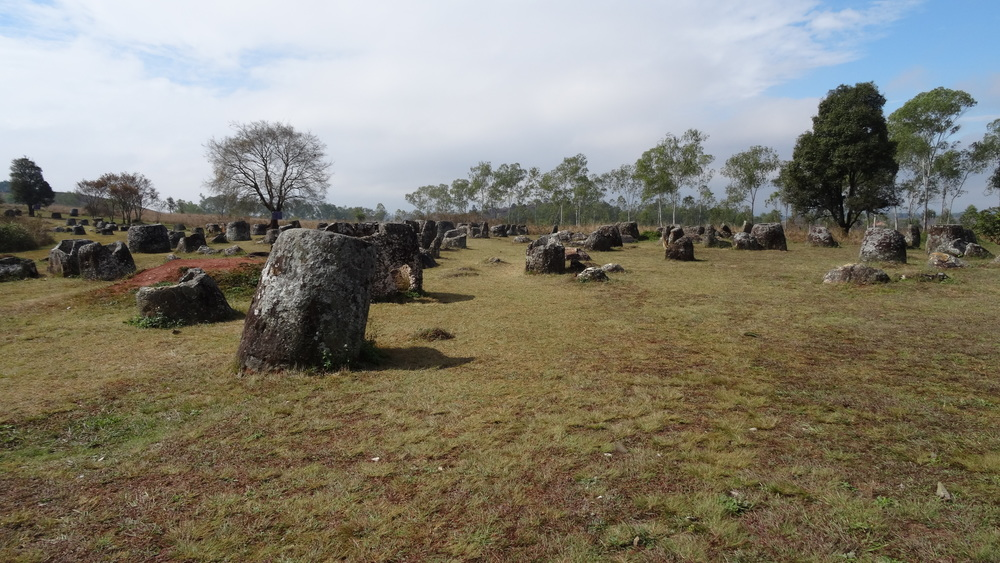 The Plain of Jars. Thousands of stone jars used for prehistoric burials dated from 500 BC.