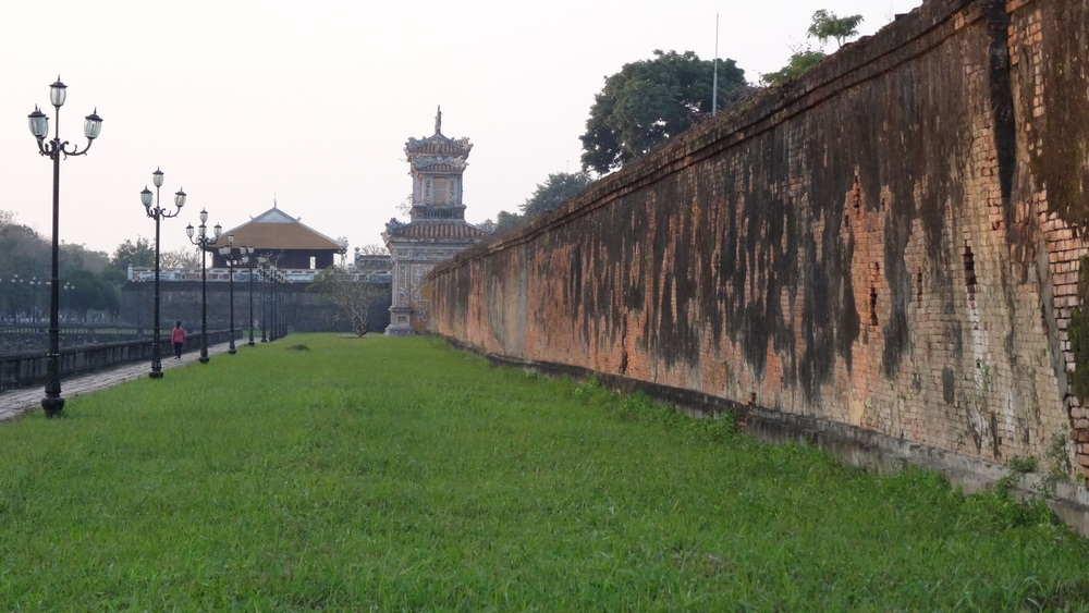Pictured above is of the Citadel. It's surrounded by a moat and this giant brick wall. It was the imperial city of the Nguyen Dynasty where emperors use to rule the region.  It use to be the capital city of Vietnam until they moved it to Hanoi in 1945.
