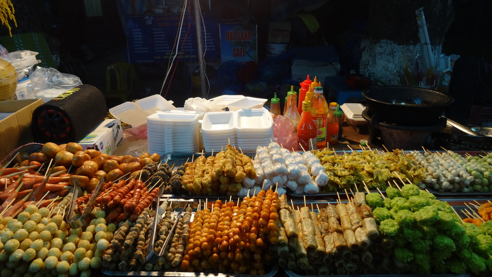 Hué street food. Meat on a stick anyone?