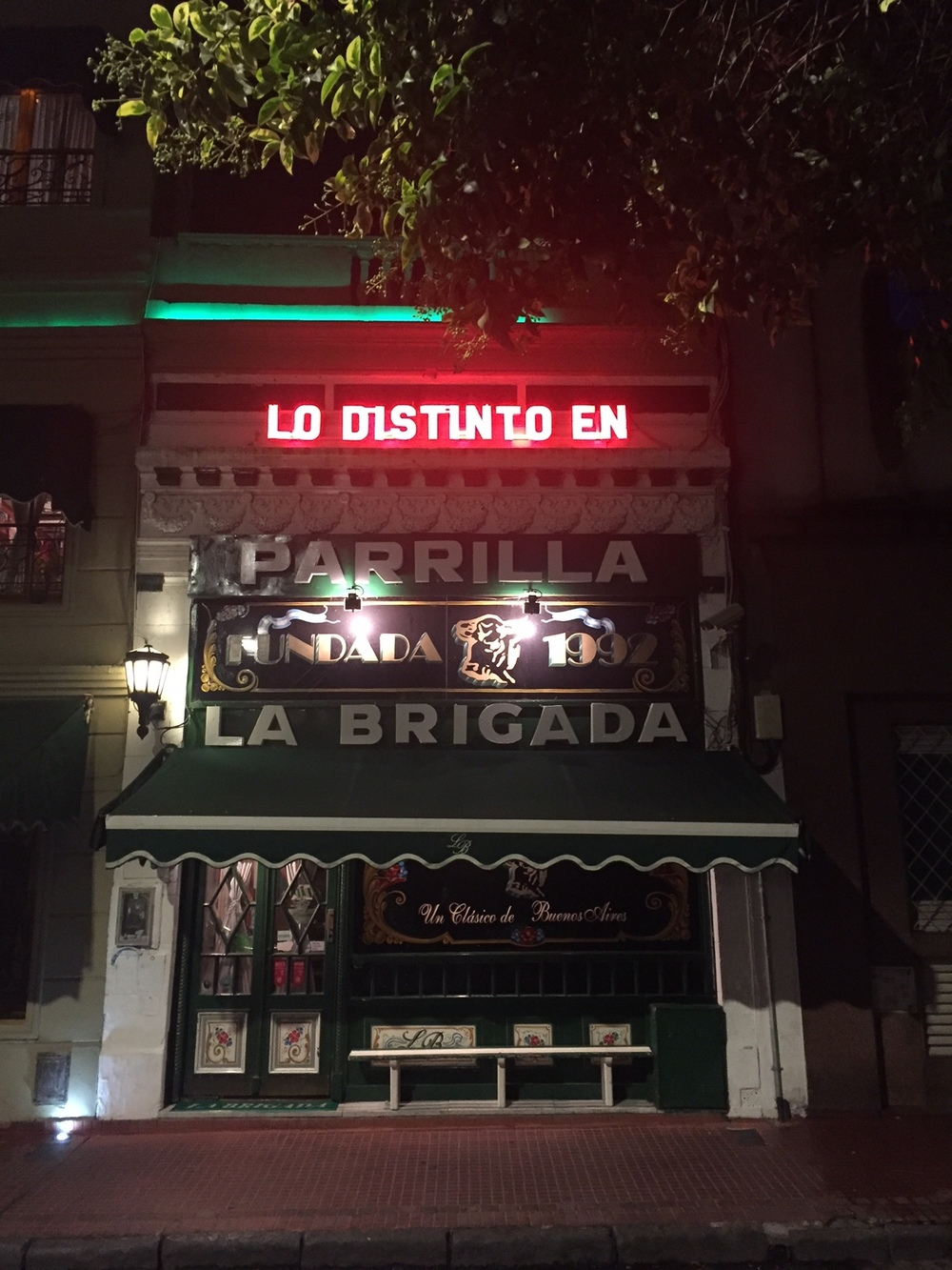 Also in San Telmo, this little gem of a Parrilla (grilled meat house). It's said that you can cut your steak with a spoon. I'll second that.