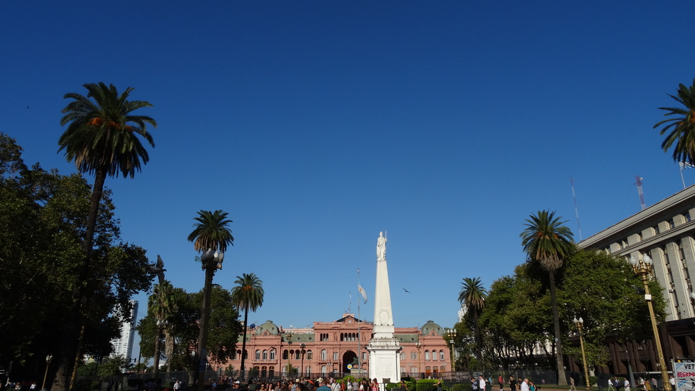 Plaza de Mayo with Casa Rosada in the background.