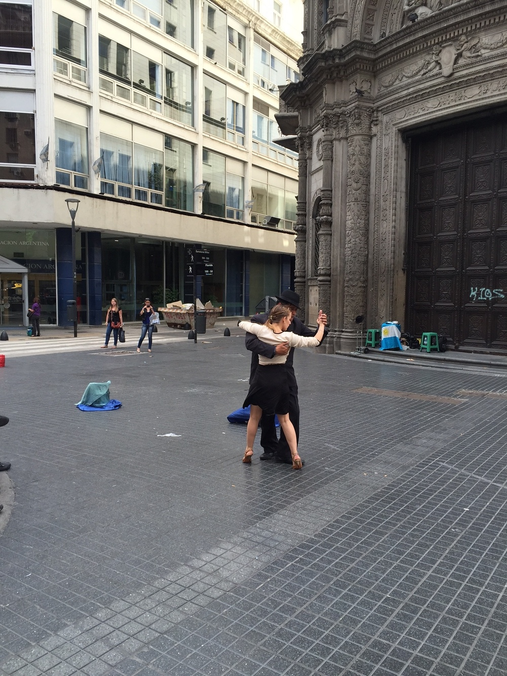 I was determined to go to a tango show, that is before I realized you could find street performers in just about every neighborhood in Buenos Aires. It's fun to sit and watch people so passionate about their craft.