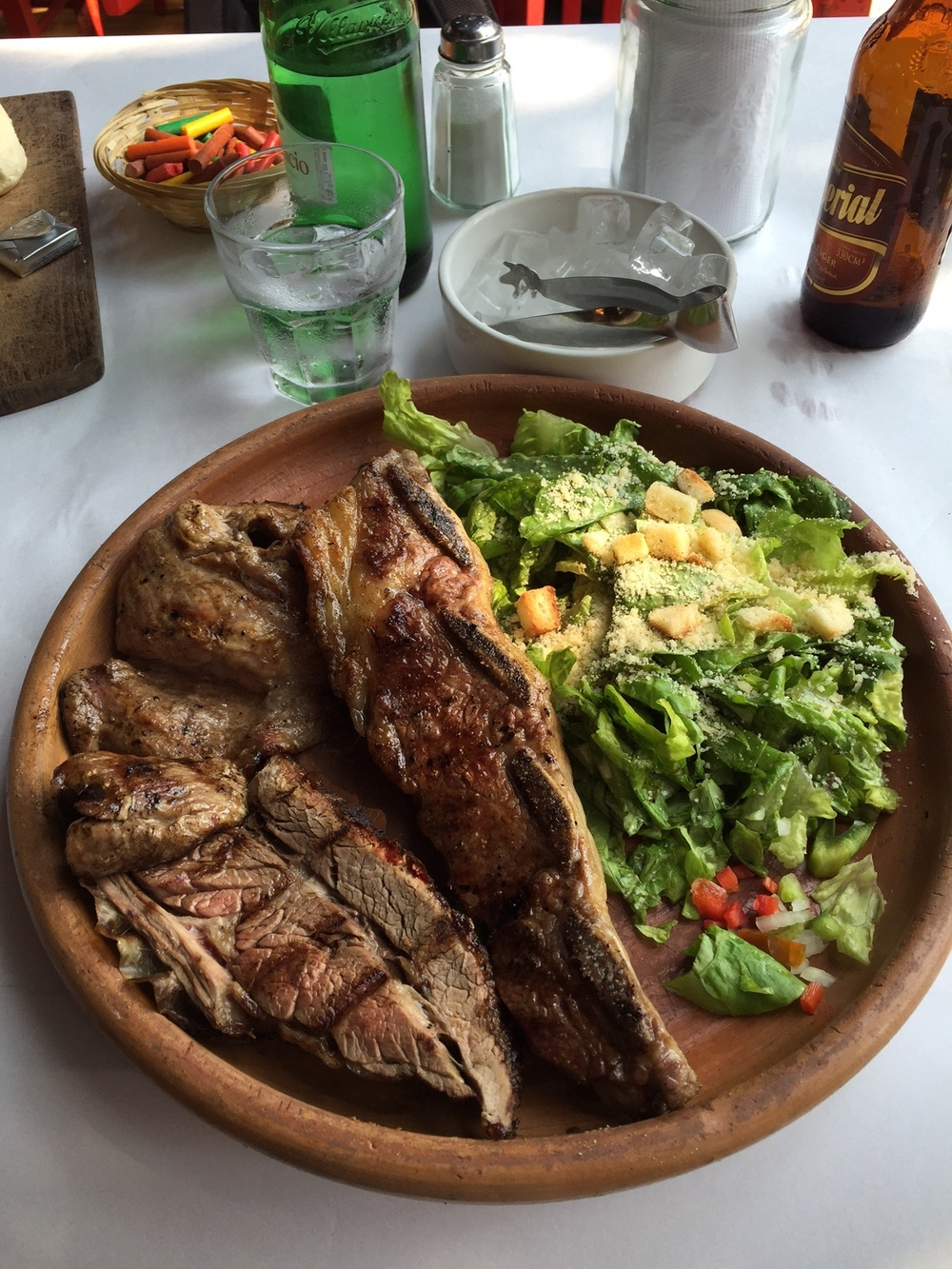 Beef is incredibly delicious and incredibly cheap in this town. The cuts of steak are a little different than the traditional US cuts so do a little research before you hit the Parrilla.