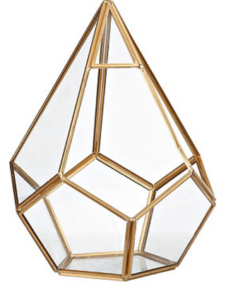 Gold TEARDROP geometric 5 X 5 X 9 - $10