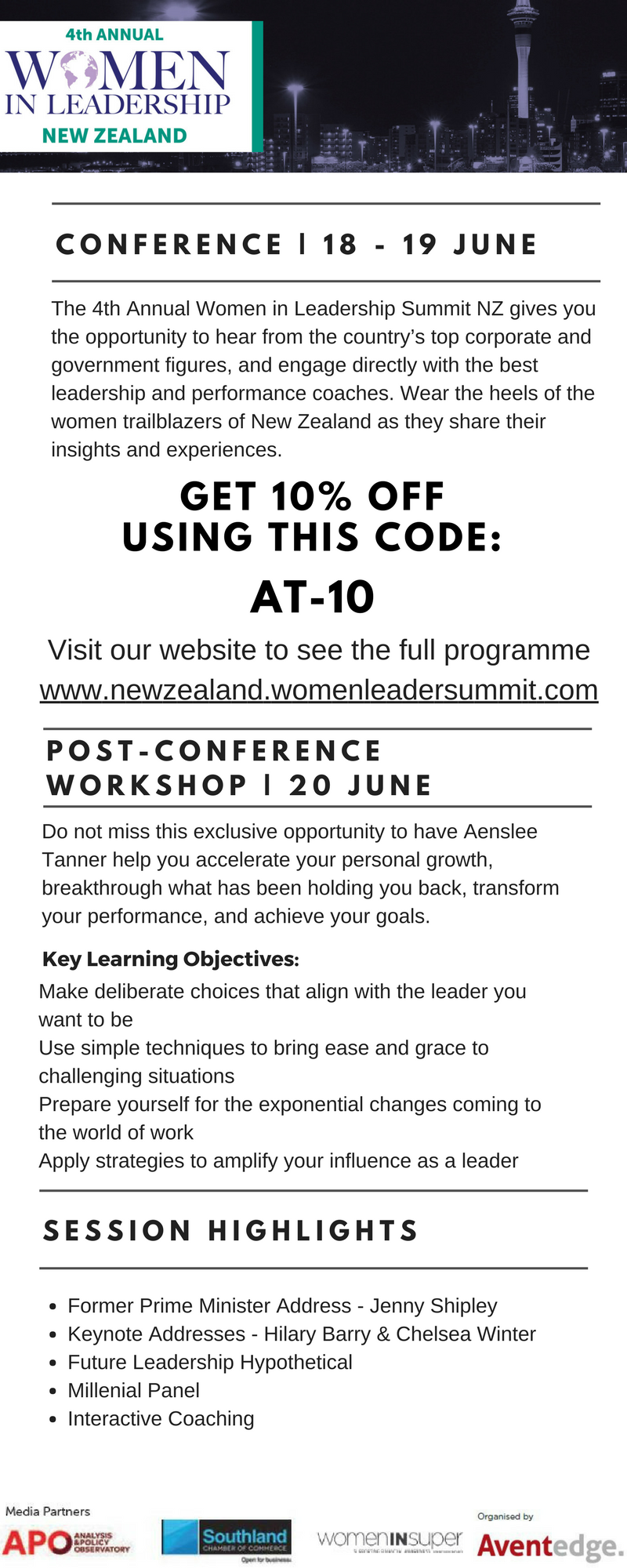 Women In Leadership Summit - Discount Code