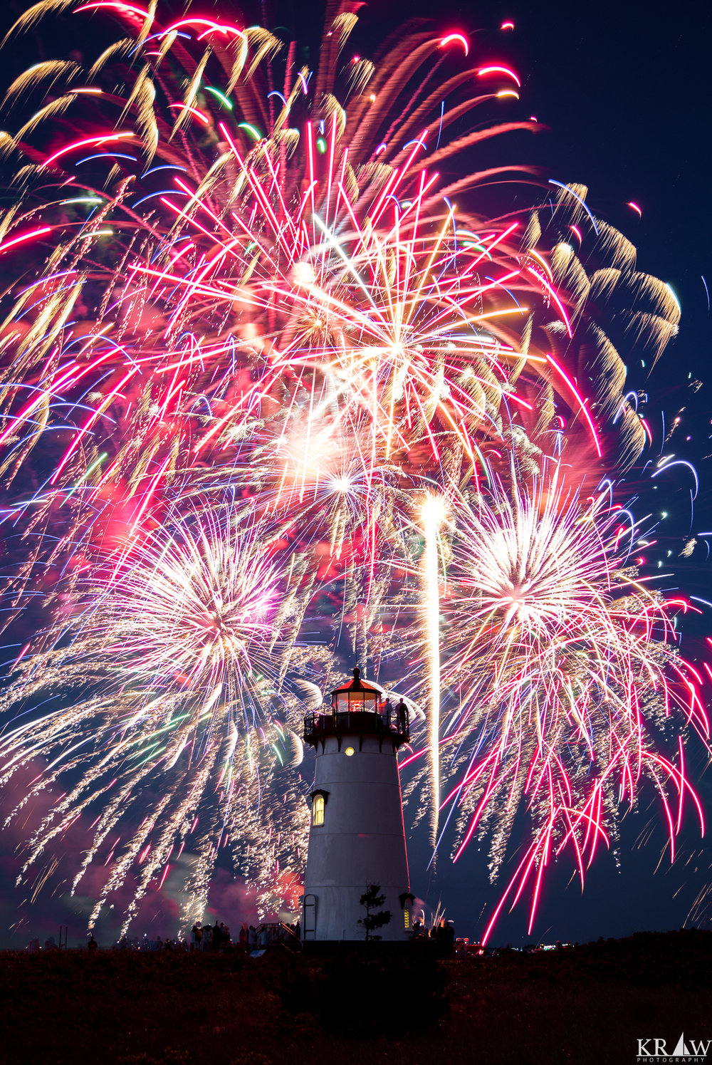 July 4th Fireworks over Edgartown Lighthouse
