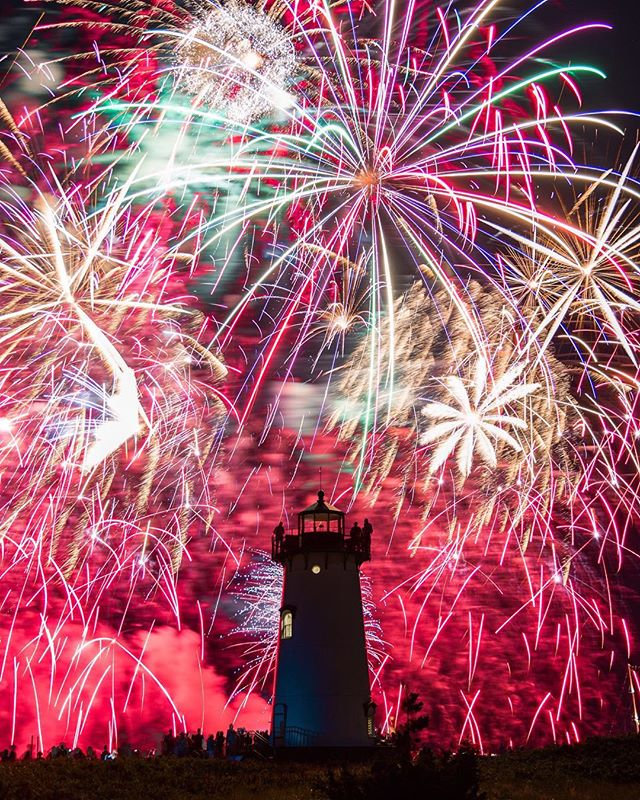 Honored to be selected as one of Cape Cod's top photographers by @capecodmag ! Congratulations to the others selected as well (listed in my Insta story)! - July 4th fireworks over Edgartown Lighthouse 🇺🇸