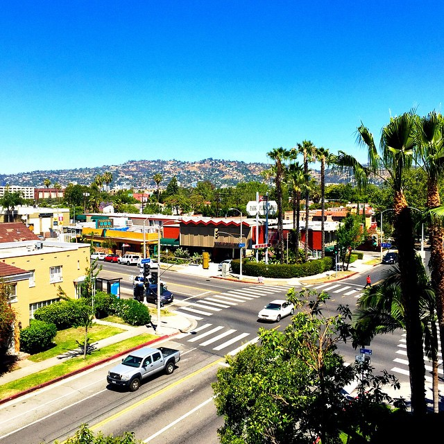 A beautiful view from on a clear and sunny day in Los Angeles, California.