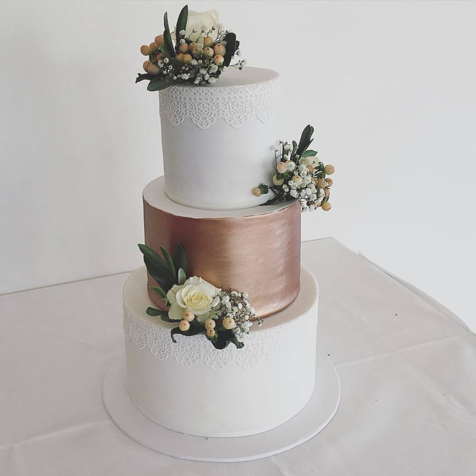 Copy of Wedding Cake with Copper Detail