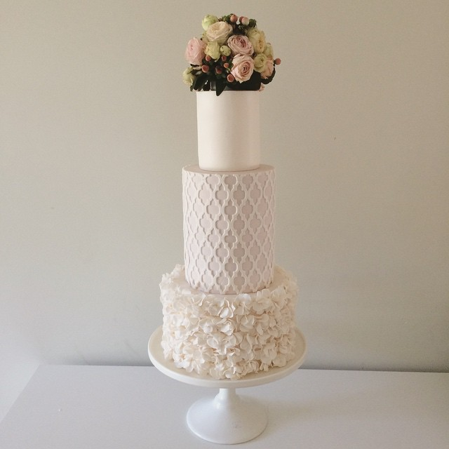 Copy of Wedding Cake with Flower Topper