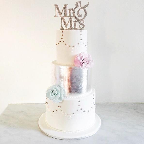 Copy of Silver Leaf Wedding Cake