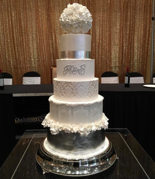 5 Tier Showstopper Wedding Cake