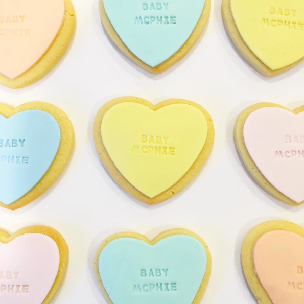 Pastel Heart Shaped Cookies