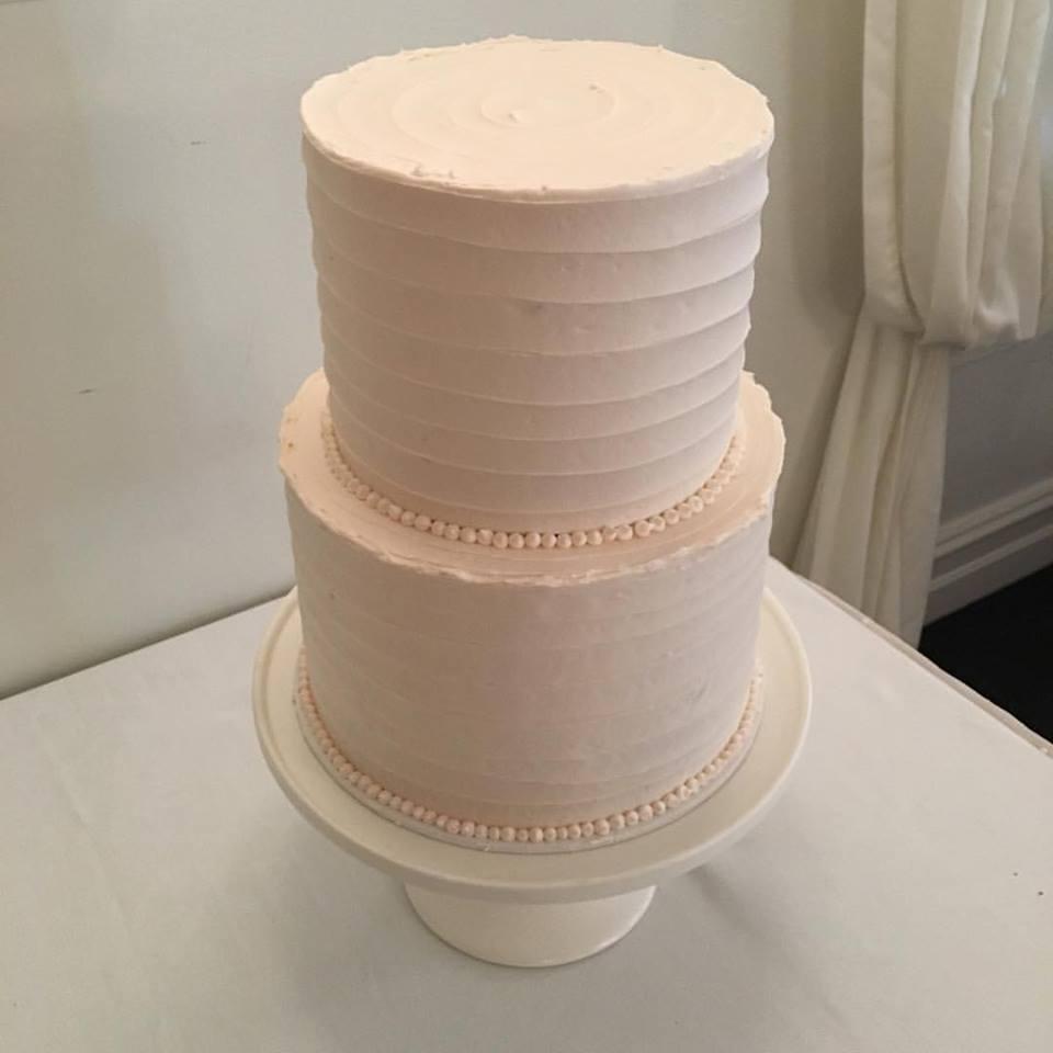 Peach Buttercream Wedding Cake