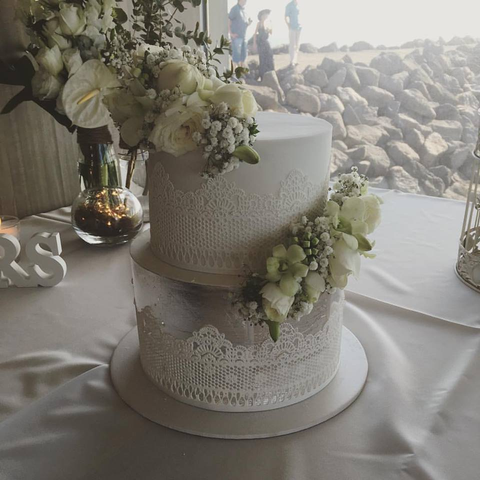 Copy of White Wedding Cake with Flowers