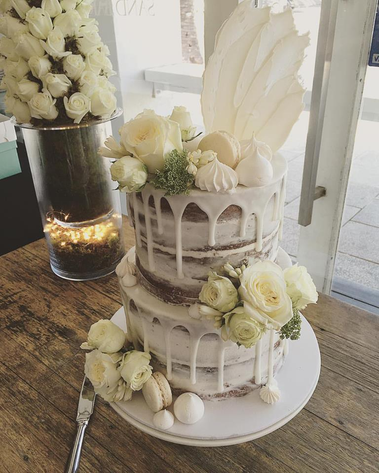 Naked Engagement Cake