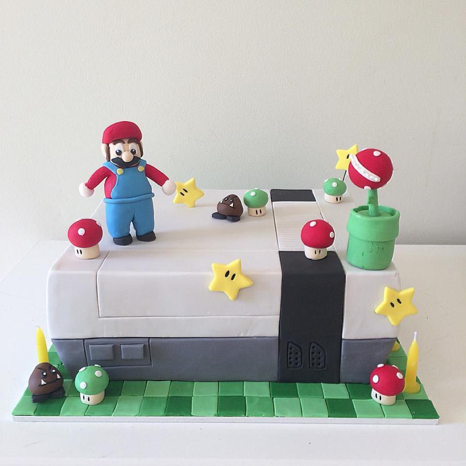Mario Nintendo NES Birthday Cake
