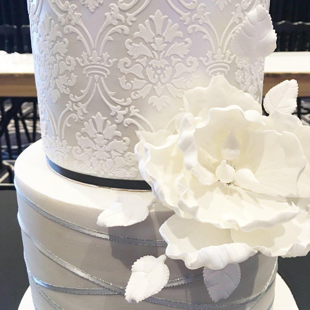 Wedding Cake with Sugar Flower
