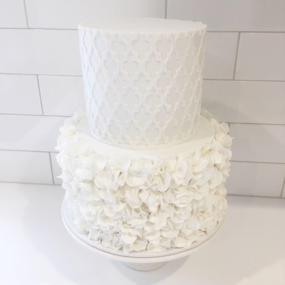 Copy of Wedding Cake with Ruffles