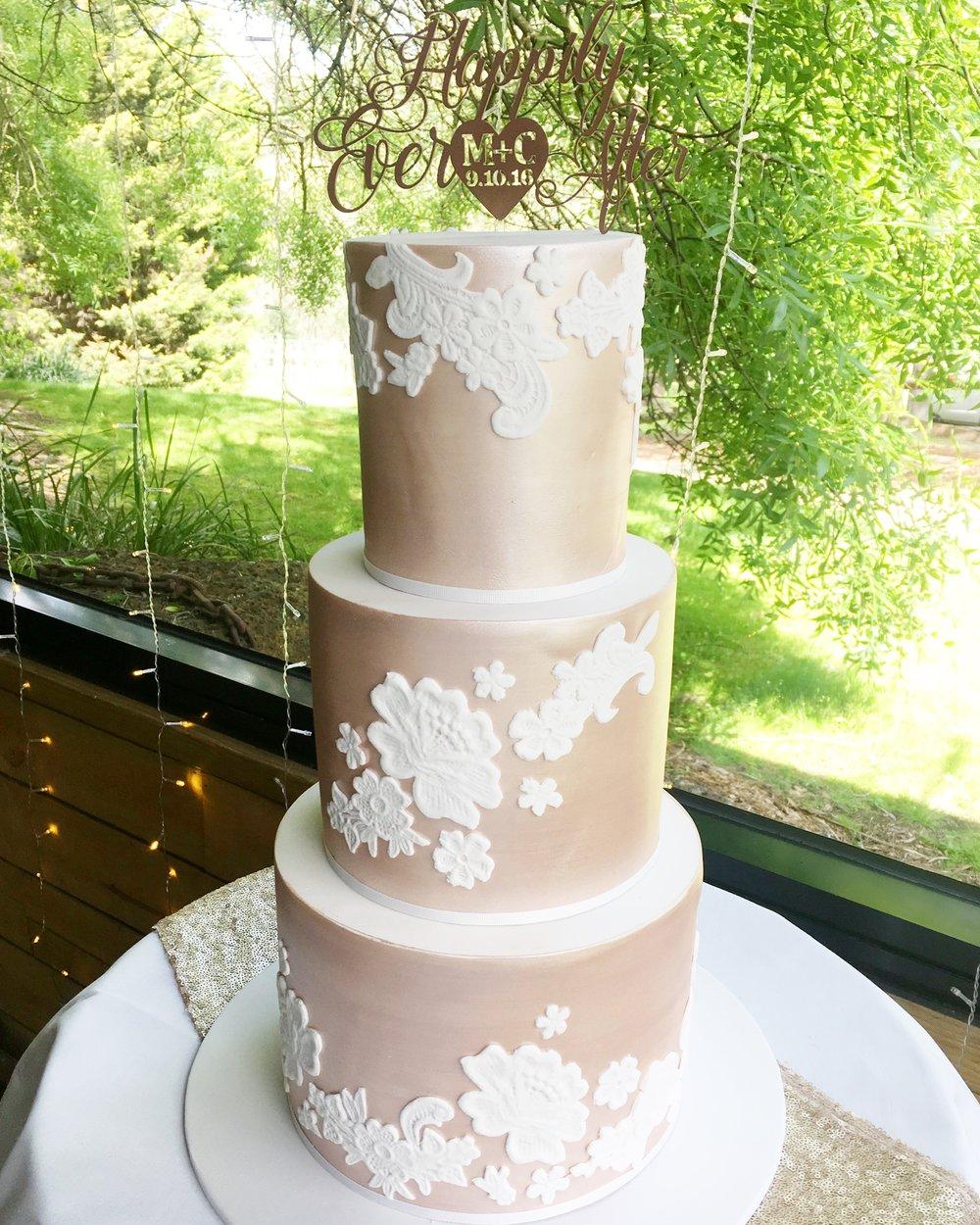 Rose Gold Wedding Cake
