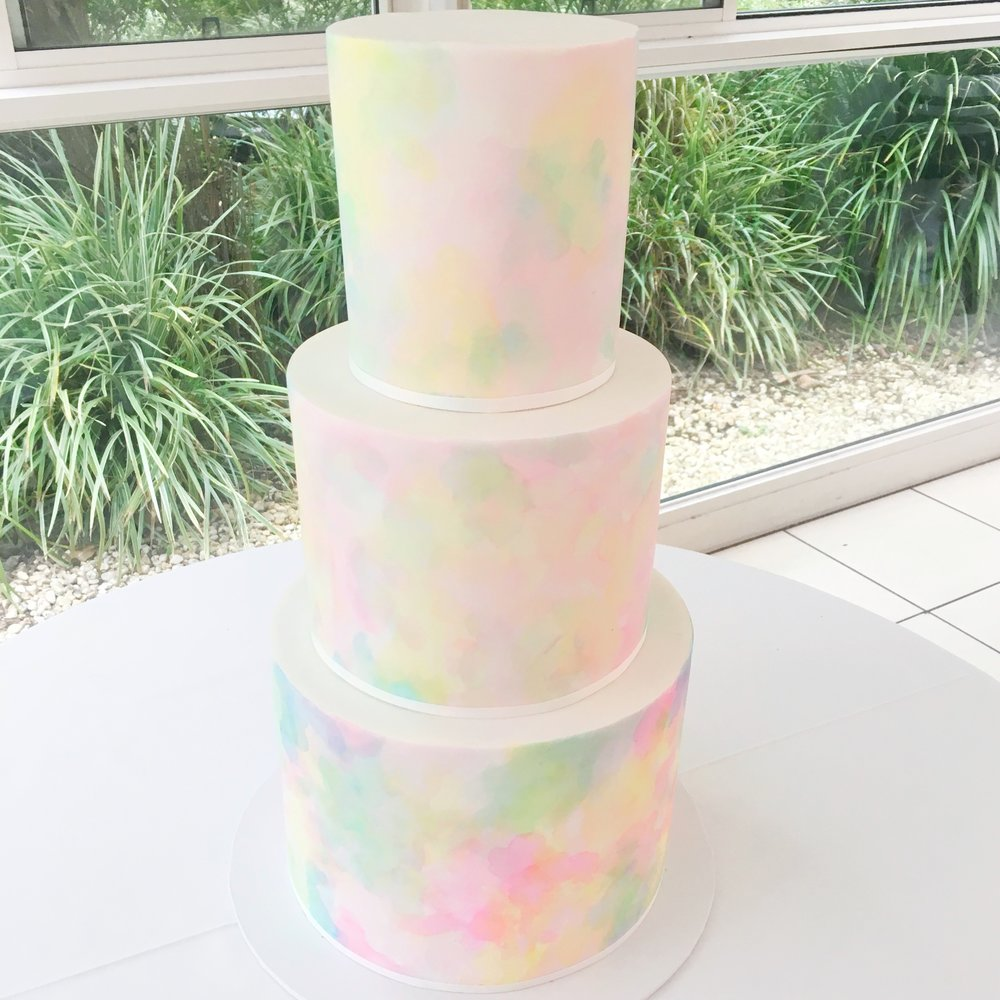 Multicolour Watercolour Cake