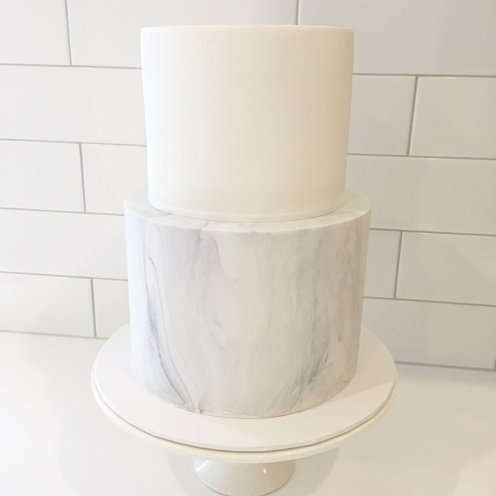 White & Marble Cake