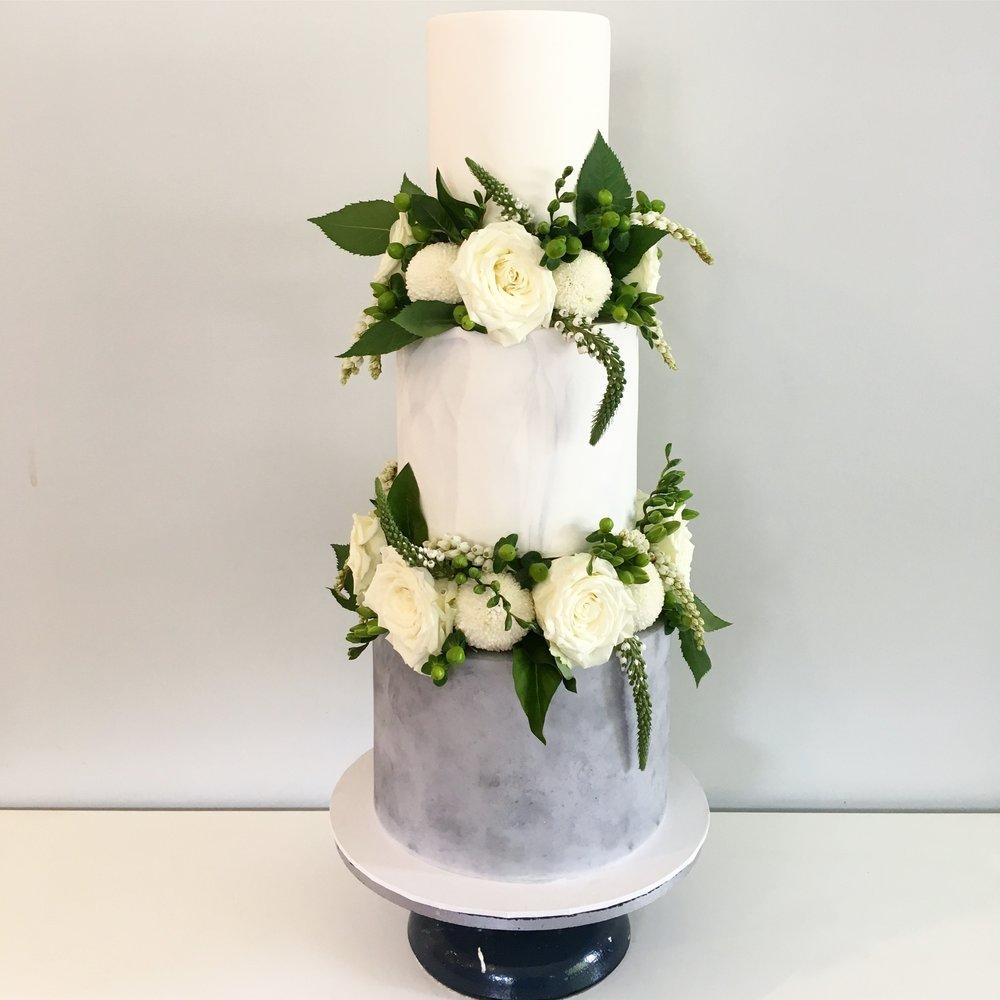 Marble & Concrete Cake