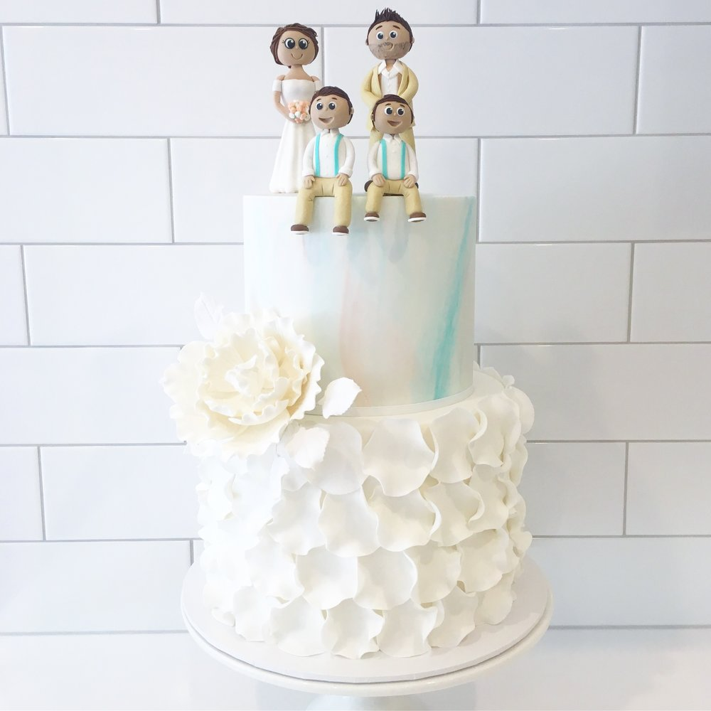 Copy of Wedding Cake with Custom Toppers