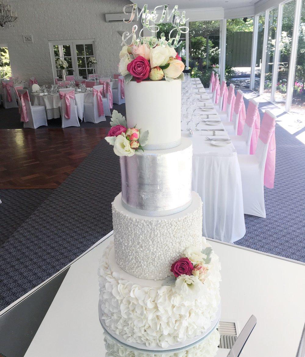 Copy of Wedding Cake with Fresh Flowers