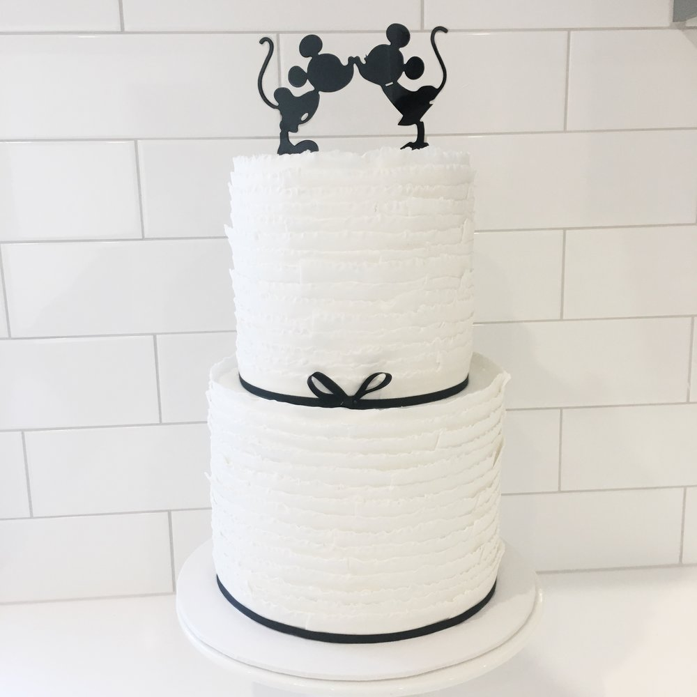 Copy of Wedding Cake with Disney Topper