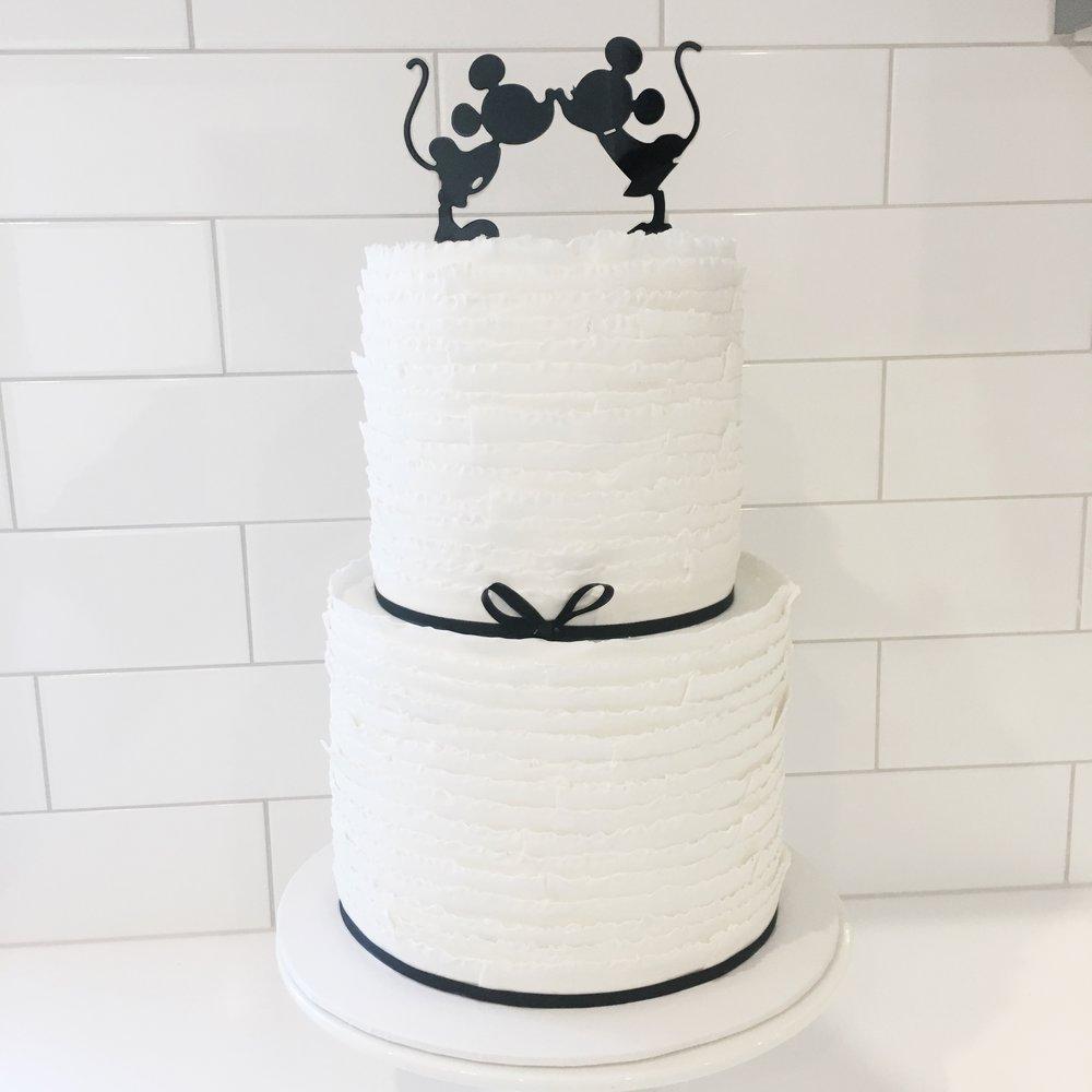 Wedding Cake with Disney Topper
