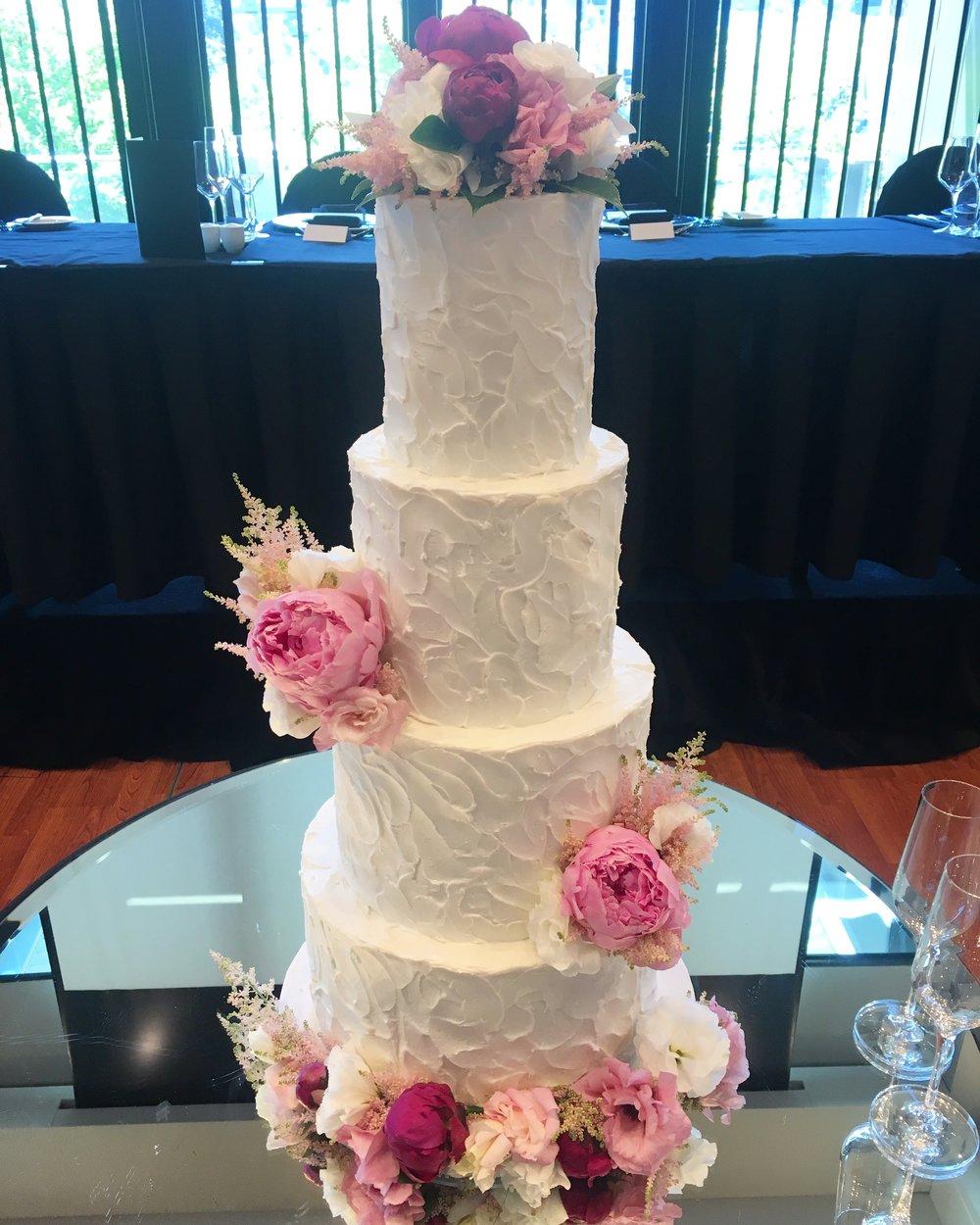 Copy of Buttercream Wedding Cake with Fresh Flowers