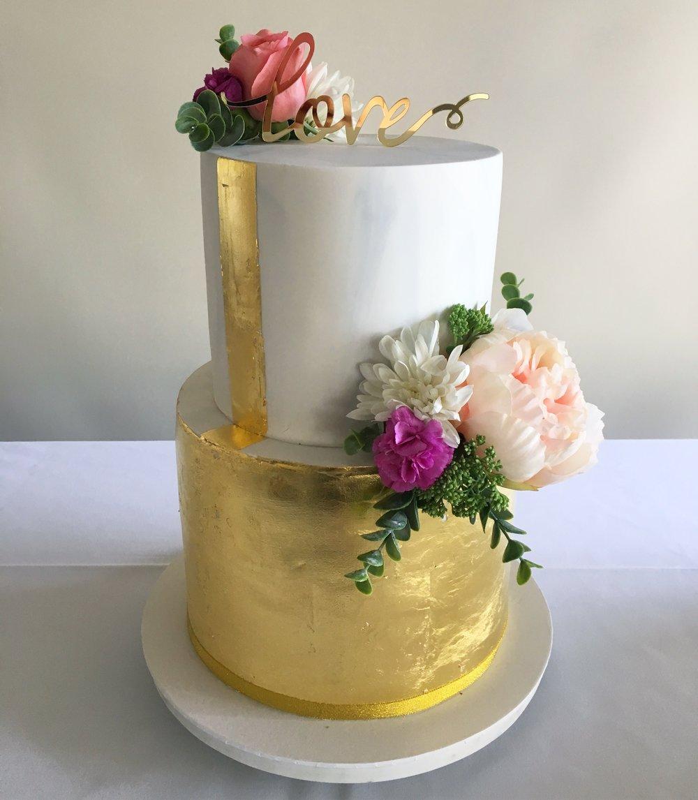 Copy of Marble & Gold Leaf Cake