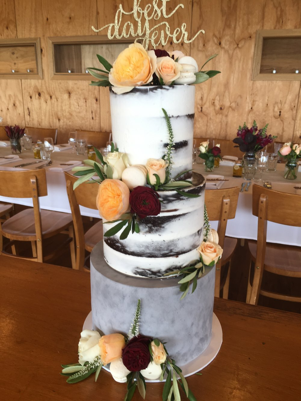 Concrete Naked Cake