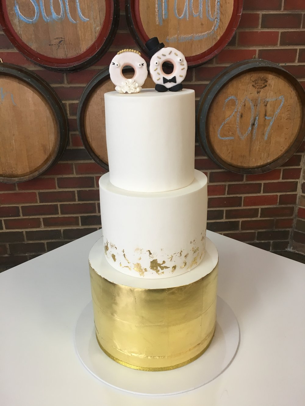 Copy of Wedding Cake with Donut Toppers