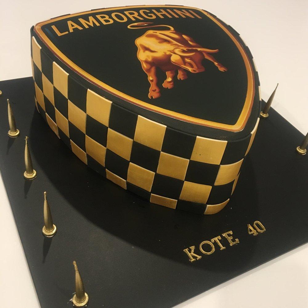 Lamborghini Birthday Cake
