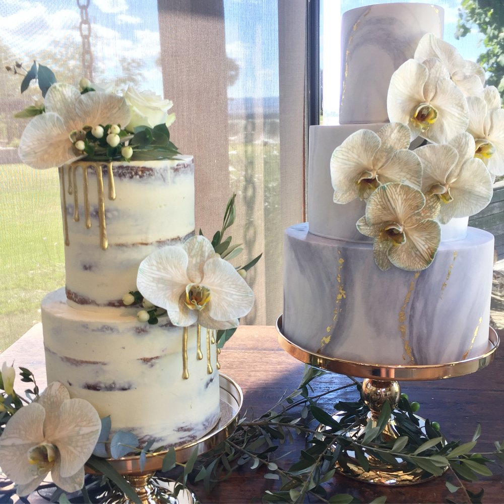 Copy of Naked and Marble Wedding Cakes