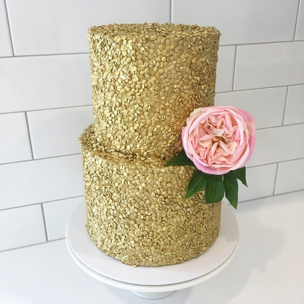Copy of Gold Sequin Wedding Cake