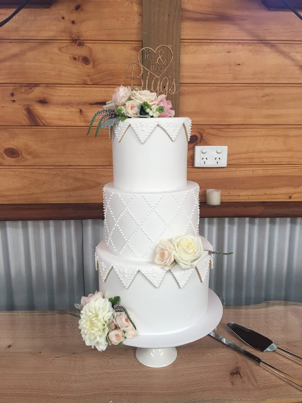 Wedding Cake with Bunting